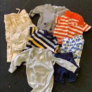 Lot of eight pieces for a boy three -12 months